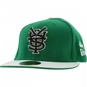 Stussy Mono New Era Fitted Cap (green)