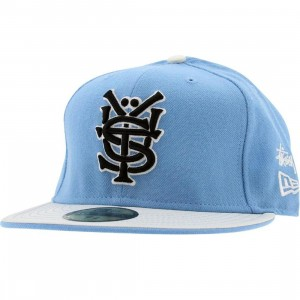 Stussy Mono New Era Fitted Cap (sky blue)