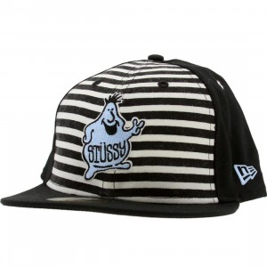 Stussy Mr Blob New Era Fitted Cap (black)