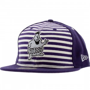 Stussy Mr Blob New Era Fitted Cap (purple)