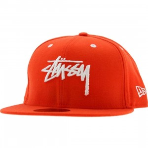 Stussy Original Stock New Era Fitted Cap (orange)