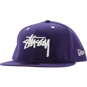Stussy Original Stock New Era Fitted Cap (purple)