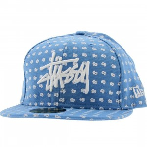 Stussy Peace And Prosperity Dot New Era Fitted Cap (sky blue)