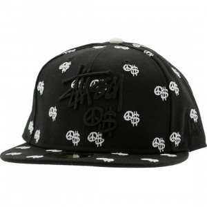 Stussy Peace And Prosperity Emblem New Era Fitted Cap (black)