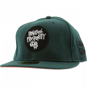 Stussy Peace And Prosperity Patch New Era Fitted Cap (green)