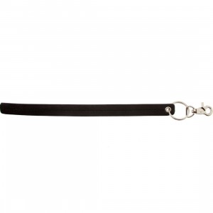 Stussy Pinstripe Leather Keychain (black)