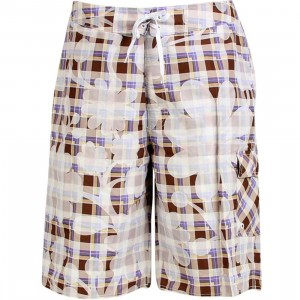 Stussy Plaid Flowers Swim Trunk (purple)