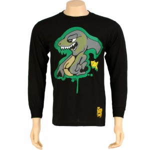 Stussy Shark Long Sleeve Tee (black)