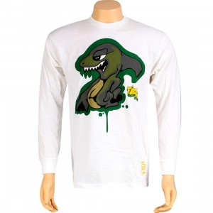 Stussy Shark Long Sleeve Tee (white)
