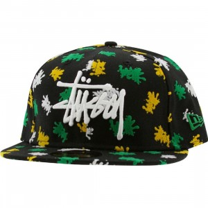 Stussy Splatter Stock New Era Fitted Cap (black)