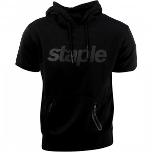 Staple Suspect Short Sleeve Hoody (black)