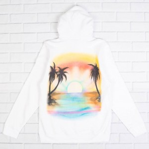 Stussy Men Sunset Hoody (white)