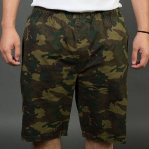 Stussy Men Camo Beach Shorts (olive)