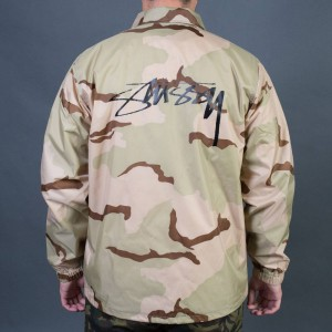 Stussy Men Spring Coach Jacket (camo)