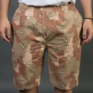 Stussy Men Camo Beach Shorts (khaki)
