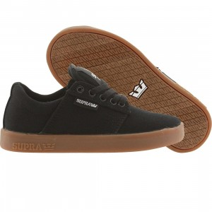 Supra Big Kids Westway (black / white / gum)