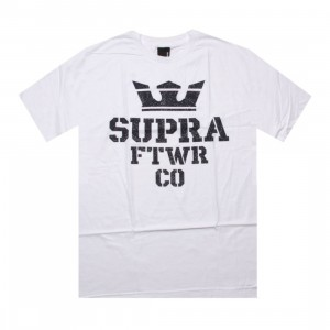 Supra Crackle Stack Tee (white / blue)
