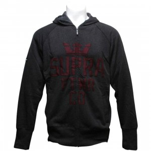 Supra Locker Zip Hoody (black)