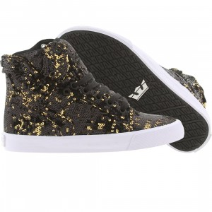Supra Women Skytop (black / gold / white)