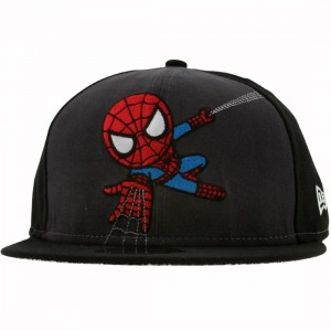 Tokidoki x Marvel Spidey Web New Era Fitted Cap (charcoal / black)