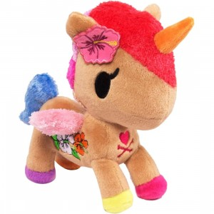 Tokidoki Unicorno Kaili Plush (brown / pink / blue)