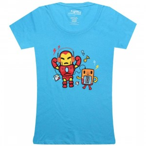 Tokidoki x Marvel Womens Iron Jam Tee (light blue)