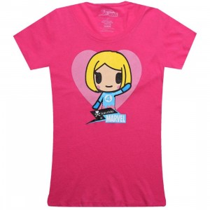 Tokidoki x Marvel Womens Invisible Girl Tee (hot pink)