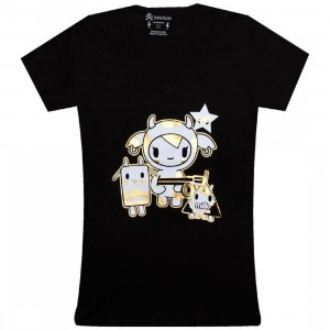 Tokidoki Womens Golden Moofia Tee (black)