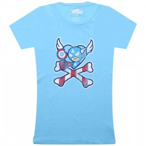 Tokidoki x Marvel Womens Captain Lollipop Tee (light blue)