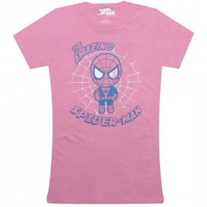 Tokidoki x Marvel Womens Vintage Spiderman Tee (pink)
