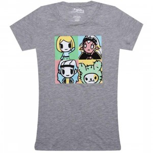 Tokidoki x Marvel Womens Marvel Pop Tee (grey heather)