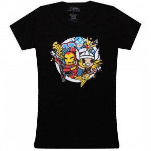 Tokidoki x Marvel Womens Heroes Rock Tee (black)