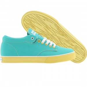 The Hundreds Johnson Mid (turquoise / yellow)