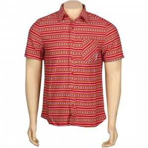 The Hundreds x Grateful Dead Poncho Woven Short Sleeve Shirt (red)