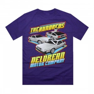 The Hundreds Delorean Motor Company DMC Car Show Tee (purple)