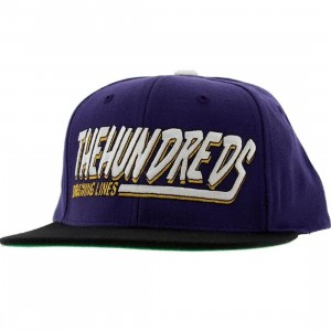The Hundreds Swish Snapback Cap (purple)