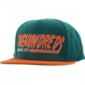 The Hundreds Swish Snapback Cap (teal)
