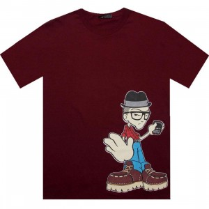 The Hundreds Boots Tee (burgundy)