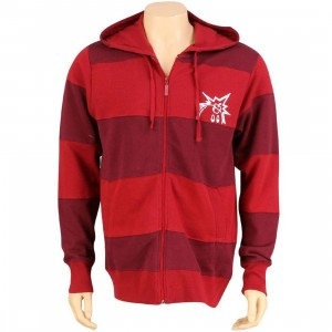 The Hundreds Cuts Zip Up Hoody (red)