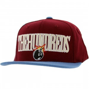 The Hundreds Draft Snapback Cap (burgundy)