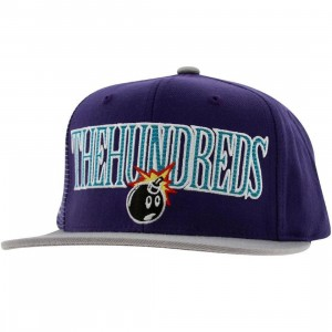 The Hundreds Draft Snapback Cap (purple)