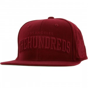 The Hundreds Player Snapback Cap (burgundy)
