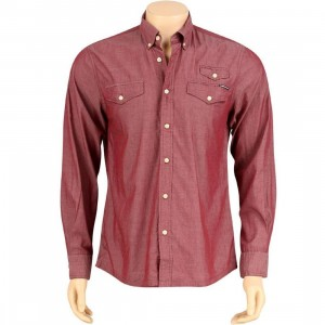 The Hundreds Butter Long Sleeve Shirt (burgundy)