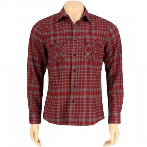 The Hundreds 1888 Long Sleeve Shirt (burgundy)