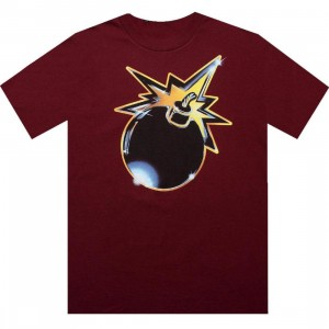 The Hundreds Crusader Tee (burgundy)