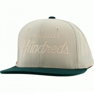 The Hundreds Team Snapback Cap (cream)