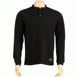 The Hundreds Spruce Thermal Long Sleeve Tee (black)