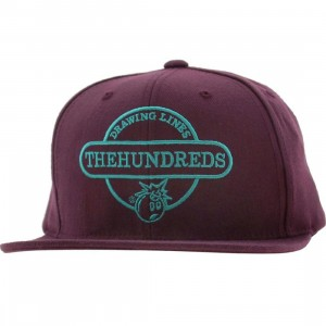 The Hundreds Town Snapback Cap (purple)