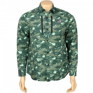 The Hundreds Years Woven Long Sleeve Shirt (camo)