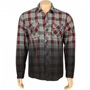 The Hundreds Young Woven Long Sleeve Shirt (maroon)